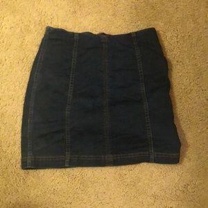 Free people mini skirt denim